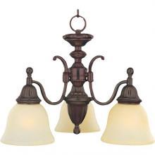 Maxim 11051SVOI - Three Light Oil Rubbed Bronze Soft Vanilla Glass Down Mini Chandelier