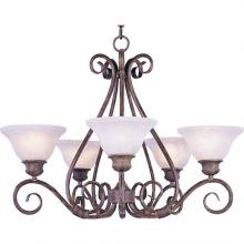 Maxim 2655MRAC - Five Light Marble Glass Up Chandelier