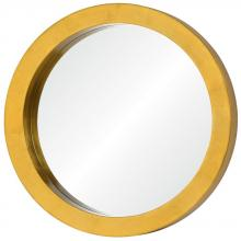 Varaluz 410A01GL - Ringleader Thick Frame Round Mirror
